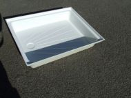 "Fibreglass shower tray 24"" x 30"""