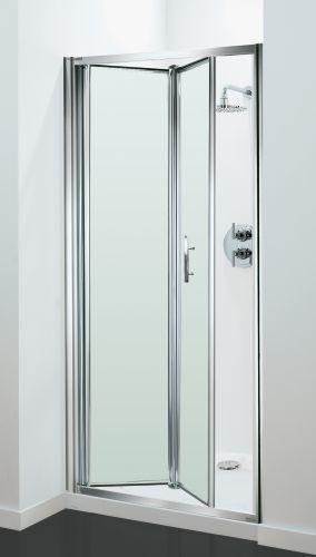 05.Petite Style Plus 1600mm x 700mm Silver Finish Bifold Shower Door