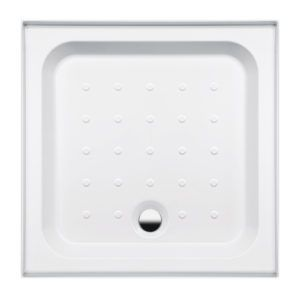 04.Coratech 760mm Square Shower Tray 4 Upstand